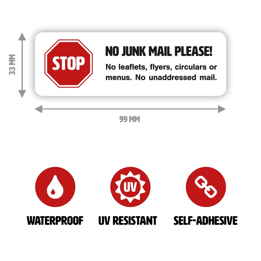 no junk mail stickers letterbox signs junk mail blocker for your